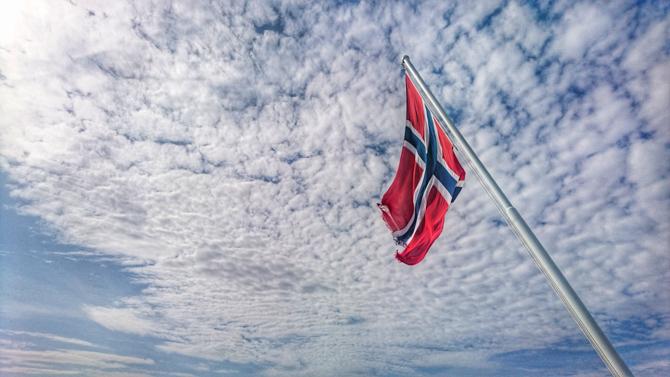European Bike Challenge Noorwegen ferry vlag By Manja outdoor buiten